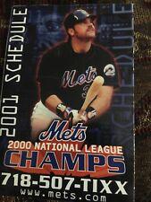 2001 New York Mets Baseball Pocket Schedule