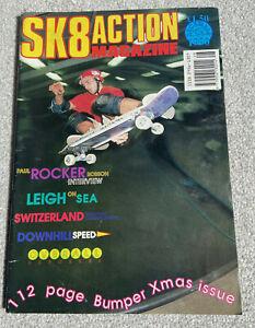 SKATE ACTION (SK8 Action) Vintage Skateboard Magazine December 1990