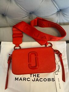 Marc Jacobs The Logo Strap Snapshot Small Women's Camera Bag - Geranium red