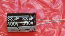 1x 33uF/400V 105 ° C Condensatore Elettrolitico 22 mm x15mm