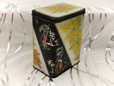 More details for stunning black, white & yellow vintage tea/coffee tin/caddy-kitchen storage