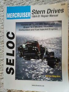 Mercruiser Stern Drives 1964-91 Repair Manual Book Seloc 3200
