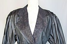 Vintage G-III G3 Womens Leather Jacket sz Small Biker Jacket Black with Paisley