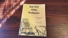1972 Utah Fishing Proclamation Vintage Booklet