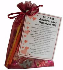 1st Anniversary Survival Kit Gift  - Great novelty present for First anniversary
