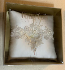Beautiful Beverly Clark Collection Ivory Wedding Ceremony Ring Pillow