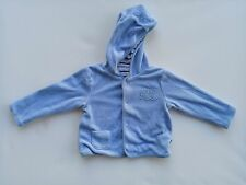 Mothercare Baby Blue Winter Jacket Soft Cotton Lined Size 0 6-9 months