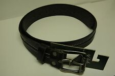 Woolrich Crawford Men's Black Leather Belt Size M (825)