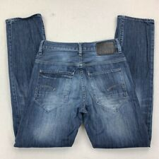 G Star Mens New Radar Slim Jeans Blue Faded Medium Wash Button Fly Denim 29x32