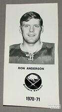 1970-71 Ron Anderson Buffalo Sabres Photo