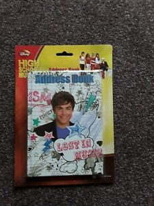 """New in packaging a """" High school musical"""" Address book alphabetically divided."""