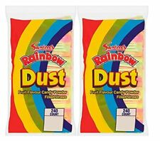 Swizzels Matlow Rainbow Dust Straws Fruit Flavoured Straws Full Bag of 240 (Pack