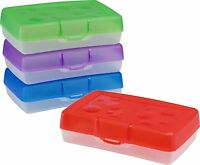 Storex Clear Bottom, Colored Top Assorted School Storage Boxes Pick You Color!
