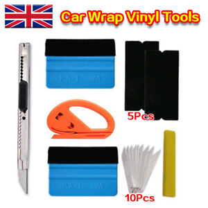 Car Wrap Vinyl Tools 6 Film Wrapping Carbon Fibre Felt Squeegee Safety Kit