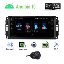 """7"""" Android 10 64GB ROM Car Stereo GPS Wifi Head Unit PIP for Jeep Chrysler Dodge"""