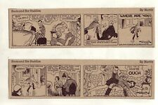 Boots by Martin - Spanking panels - 19 large 5 column comic strips, January 1940