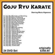 Morio Higaonna's Mastering Okinawan Goju Ryu Karate (24 DVD Set)