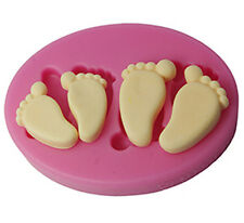 FOUR-C Baby Feet Silicone Chocolate Ice Soap Mold Cake Fondant Decorating Tools