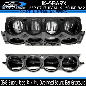 DS18 JK-SBARXL Black Overhead Sound Bar Enclosure for Jeep Wrangler 07-17 JK JKU