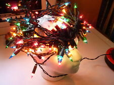 100 MULTI COLOURED VINTAGE CHRISTMAS LIGHTS, SHADE LESS PATS TESTED SEE PHOTOS