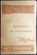 Emmanuel de Las Cases, Mémorial de Sainte-Hélène, Ed. Henri Gautier, 1891