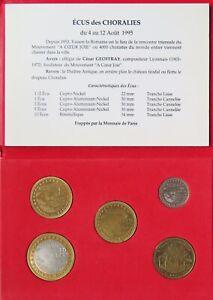 84004 - COFFRET 5 pièces 1/2 - 1 - 2 - 5 et 10 ECU- 84 VAISON LA ROMAINES - 1995