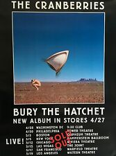 "THE CRANBERRIES BURY THE HATCHET 1999 ALBUM PROMO POSTER 48"" X 36"" ROLLED MINT"