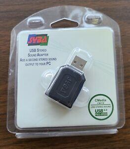 SYBA SD-CM-UAUD USB Stereo Audio Adapter Headset 3.5mm Windows PC RoHS