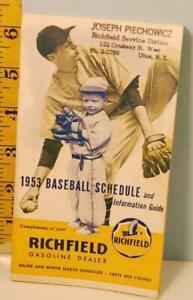 1953 Richfield Gasoline Dealers Baseball Schedule & Information Guide