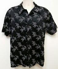 Positano Charlie Lapson Black Disco Club Shirt w/ Gray Dragon Design - Large