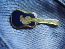 Pin guitarra Guitar acústica clásica e-guitarra Bass guitarra azul