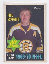 1970-71 OPC PHIL ESPOSITO ALL STAR FIRST TEAM #237