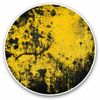 2 x Vinyl Stickers 7.5cm - Cool Yellow Black Paint Cool Gift #3829