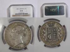 1886 GB VICTORIA SILVER HALF CROWN NGC XF45 INV#352B-10