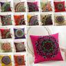 "Boho Vintage Embroidery Cotton Decorative Throw Pillow Case Cushion Cover 18X18"""