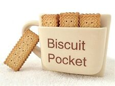 New Novelty Ceramic Biscuit Pocket Coffee Mug Funny Coffee Tea Cup Cookie Holder