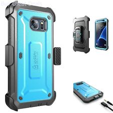 Supcase Rugged Holster Unicorn Beetle PRO Blue Cover Case for Samsung Galaxy S7