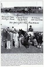 COALTOWN ARLINGTON PARK 1949   2 LOT.  photo Horse Racing