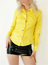 Latex Rubber Gummi Shirt Coat Top Jacket Catsuit Suit Clothing Classic