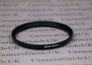 60mm to 62mm Male-Female Stepping Step Up Filter Ring Adapter 60mm-62mm