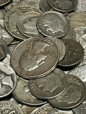 90% Silver Dimes - Quarters - Halves - $10 face value - average circulated