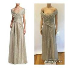 NWT TALBOT RUNHOF OFF THE SHOULDER DRAPED GOWN SZ 8 MSRP $1875