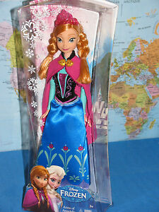 DISNEY FROZEN PRINCESS ANNA OF ARENDELLE Y9958 SPARKLE DOLL **BRAND NEW & RARE**