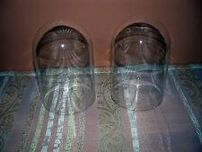 2 Glasdome, Glassturz , Uhrensturz, Glasglocke,Kaminuhr, Standuhr,Uhren, Glas
