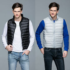 Ultralight Mens Duck Down Puffer Sleeveless Jacket Coat Vest Waistcoat Packable