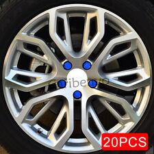20Pcs/set 19mm Blue Car Wheel Center Hub Screw Nuts Bolt Rubber Cover