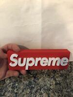 SUPREME box 3D logo!!!
