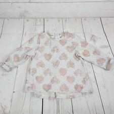 Milkshake Jumper Sweatshirt Size 3 Girls Grey Bronze Heart Print