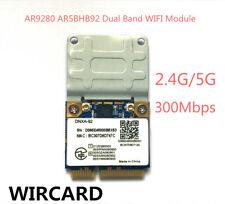 AR9280 AR5BHB92 tarjeta de doble banda inalámbrico Wifi Mini Pci-e 300Mbp