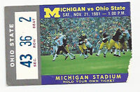 1981 Michigan Ohio state college football ticket stub Schembechler